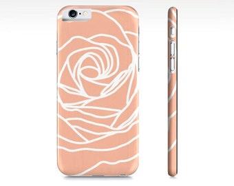 Rose iPhone Case - Modern Flower Phone Case - Peach iPhone 6 Case - iPhone 5 Case - Samsung Galaxy