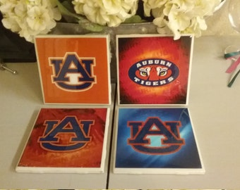 Auburn Tigers coaster set