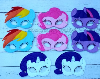Horse mask.Felt Masks.Great for Birthday Parties.Embroidered felt mask.