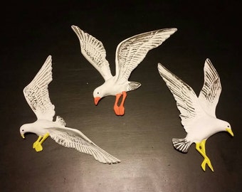 3 Set Seagull Wall Plaques