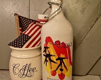 Imperial Pilsner Rogue Growler, Rare Growler, Vintage Stoneware Growler Bottle, Vintage Beer Container, Rogue Beer Growler