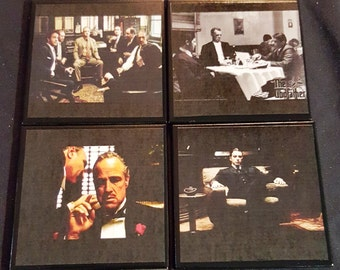 Godfather Ceramic Tile Drink Coaster Set