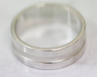 Size V Sterling Silver Band Ring, Men's Silver Band, Gent's Silver Band