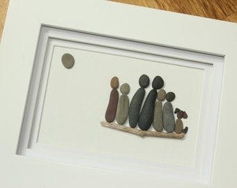 Custom Family; pebble art