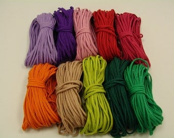For needlework - soutache  2.5mm - a skein 10 m - Braid Cord Trim - Choose Color  - Colorfast and eco-friendly - DIY Jewelry Making