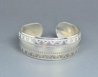 Embossed Cuff Bracelet Moroccan, Moroccan Jewelery, Bohemian Cuff, Bohemian Gypsy Jewelery, Morocco Statement Bracelet, Large Bracelet