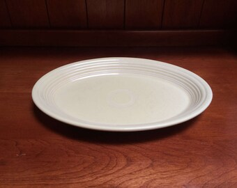 Vintage Fiestaware Pale Yellow Platter Serving Dish