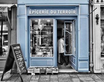 L'epicerie du Terroir - Window Shopping - Store Front - Paris - France - Photo - Print