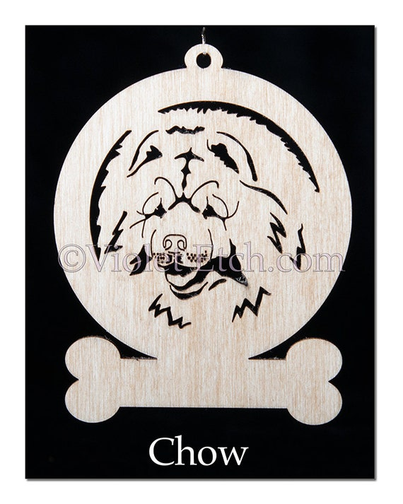 Chow Ornament-Chow Gift-Free Personalization