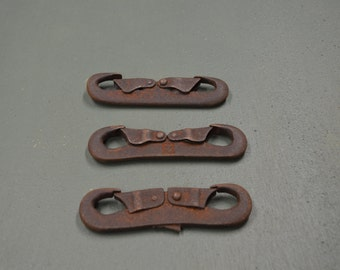 Double End Rope Hook Rusted Spring Latch Farm Memorabilia  #261