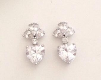 Erin crystal bridal earrings