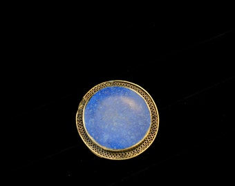 Vintage Stone Circle Statement Ring