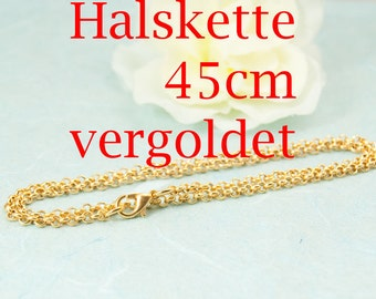 45cm Jasseron necklace with extra eye gold-plated art. 3206