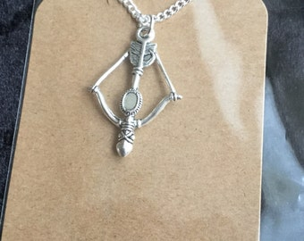 Cross bow necklace, game of thrones style.