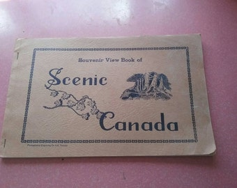 1938 Souvenir view book of scenic Canada