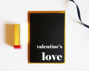 Modern Typography Valentine's card for Boyfriend, Girlfriend, Husband, Wife, Friend