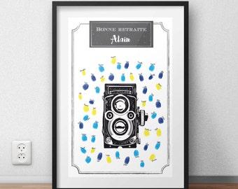 Poster prints for retirement camera vintage