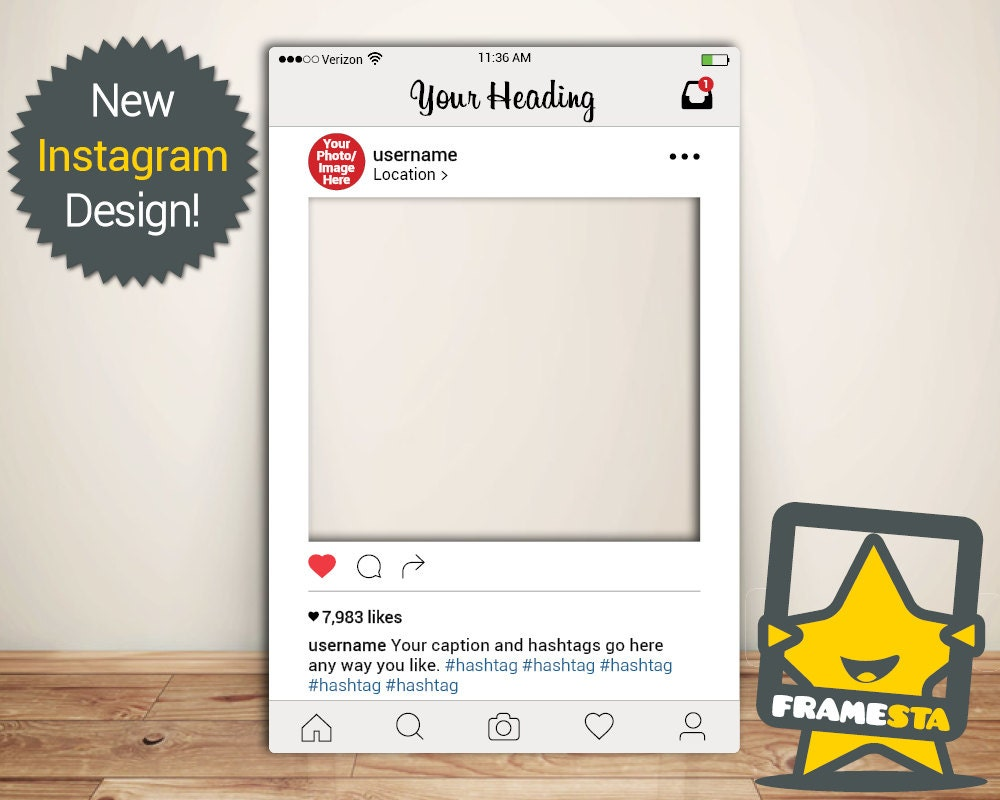 NEW Instagram Frame Digital File