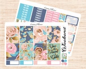 Blooming Little Weekly Set (matte planner sticker, fits perfect in Erin Condren Life Planner Vertical)