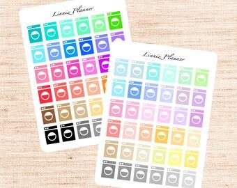 Washing Machine Functional Basics (matte planner stickers, Erin Condren, Happy Planner)