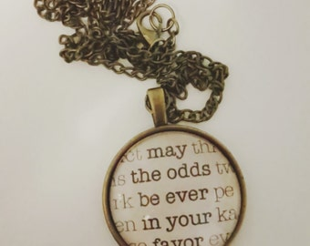 Personalized Hunger Games inspired necklace