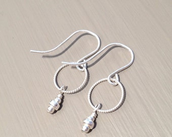 silver drop earrings small dangle earrings minimalist silver earrings small sterling silver earrings