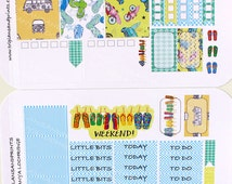 HP-0133-MK Beach! Retro 60s Style Shabby Chic Mini-Kit For Happy Planner MAMBI