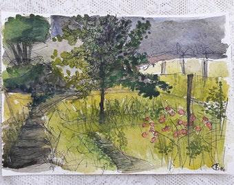 Watercolor image landscape
