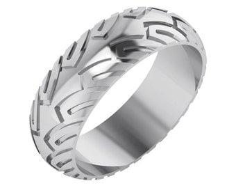 Men's White Gold Wedding Ring, Men's Wedding Ring, Gold Wedding Ring, Men's and Womens Matching Wedding Bands, Gold Wedding Ring