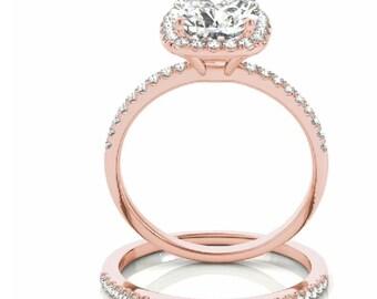 Forever Brilliant Moissanite Engagement Ring, Cushion Engagement Ring, Cushion Diamond Ring, Diamond Cushion Engagement Ring