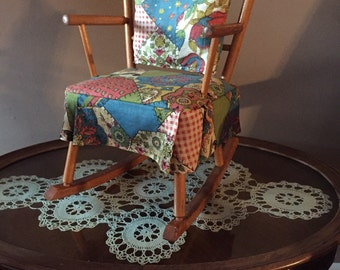 Vintage Doll Rocking Chair - Toy Rocker