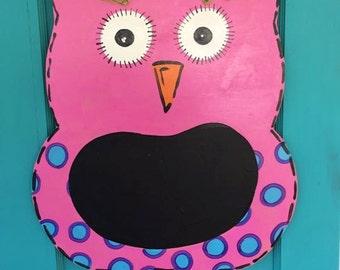 Wooden Owl Doorhanger