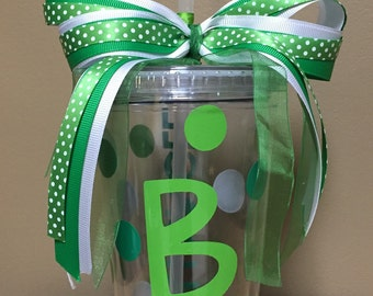 Personalized 16oz tumbler with straw