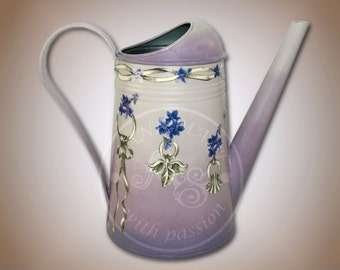 Hand made, Violet Metal Watering Can, Practical Home Decoration
