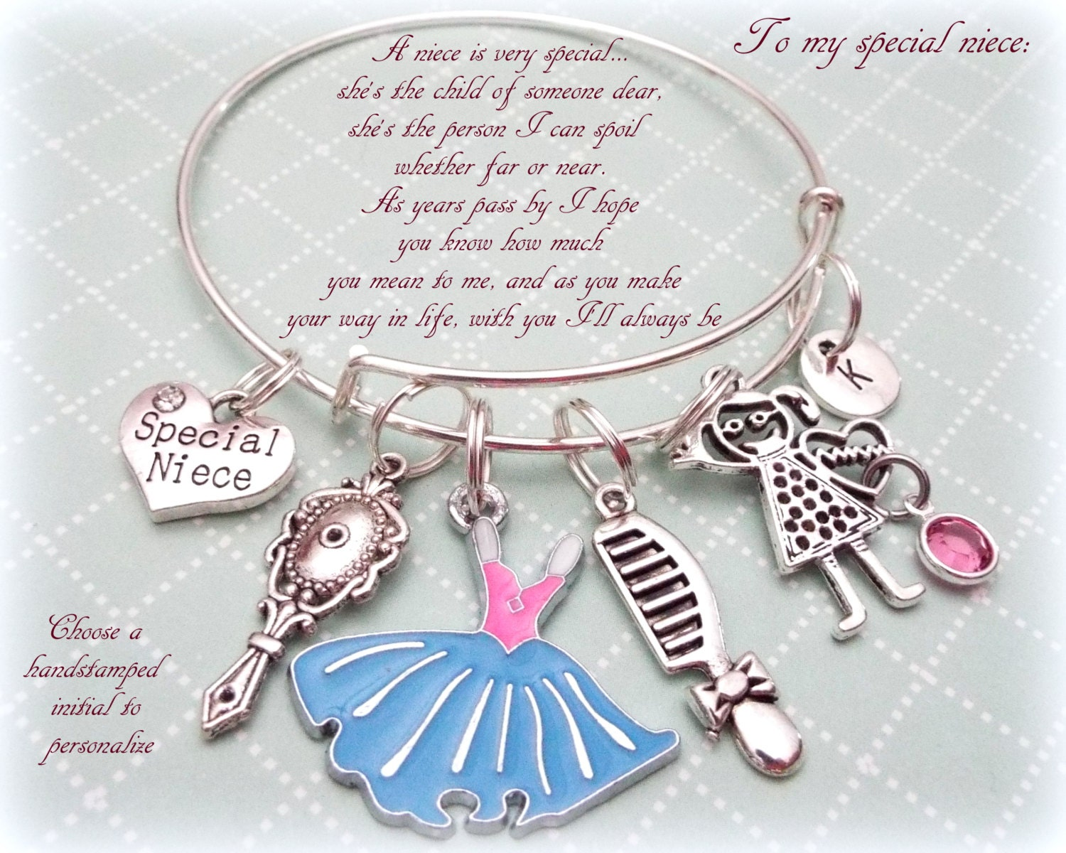 Niece Charm Bracelet, Gift for Niece, Aunt to Niece Gift Idea ...