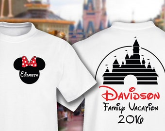 Disney Family Vacation Castle Shirts - Personalized