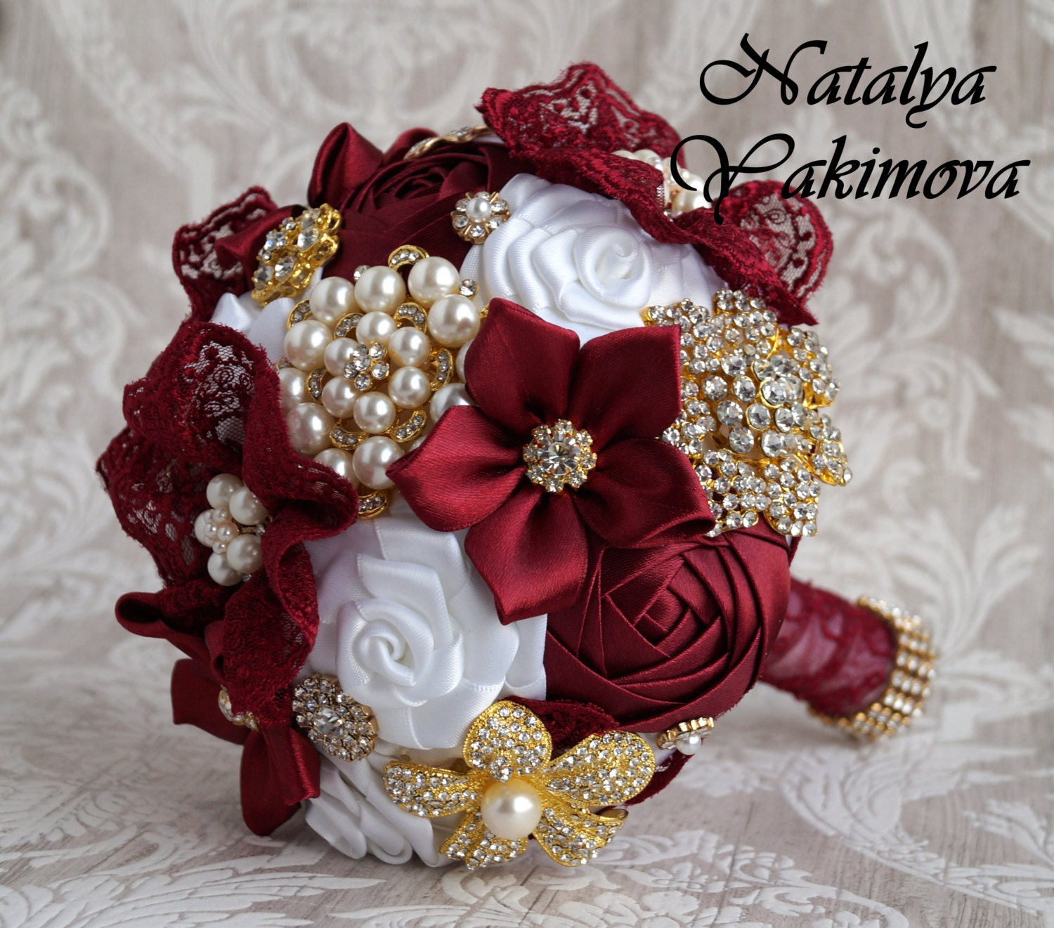 FULL PRICE. Brooch Bouquet Bridal Bouquet Wedding Bouquet