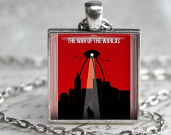 War of the Worlds Book Necklace Literary Gift necklace Literature jewelry HG Wells book Jewelry Book Lover Gift War of the Worlds keychain