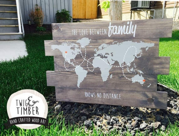 Distant Family Sign - 200 COLOR OPTIONS AVAILALBE -  Free Customization!