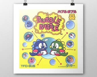 Bubble Bobble Famicom Box print