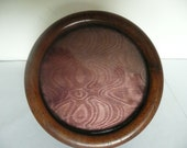 Antique 1900s French Wooden Circular/Round Photo, Picture Frame
