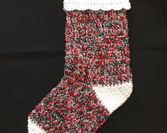 Crochet Christmas Stocking, Christmas Stocking, Xmas Stocking, Christmas Decorations, Holiday Decor