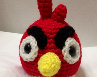 Crocheted Red Angry Bird 2, Crocheted Angry Bird, Amigurumi Bird