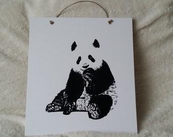 Handmade Decoration Plate Panda