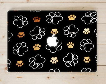 Dog Paw Print.  Dog Paw Print MacBook Case.  Dog Paw Print MacBook Cover