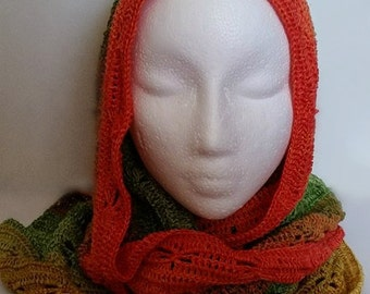 Shawl, Crochet shawl, Scarf, Colorful shawl, Dragonfly shawl, Summer shawl, Summer wrap, Romantic shawl, Light summer shawl, Dragonfly