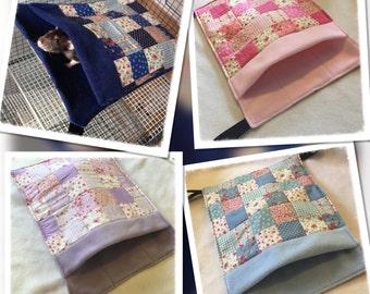 Bed/Pocket Patchwork Hammocks for Rats Ferrets Chinchilla Gerbil Degu