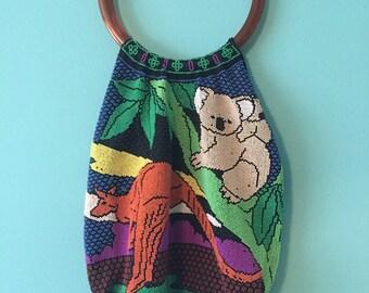 Vintage beaded animal purse