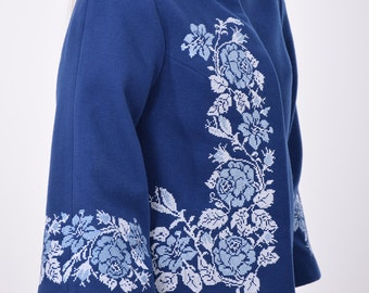 Embroidery Cashemere  Wool Coat