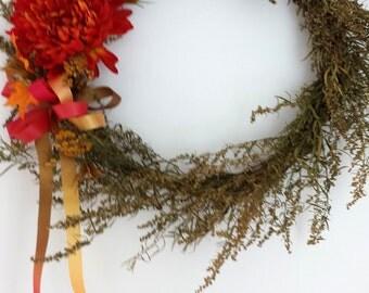 Summer Wreath, Dried Wreath, Door Wreath, Floral Decor, Dried Floral Decor, Floral Wall Decor,  Dried Flower Decor